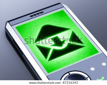 My design of mobile. It is my own design of mobile phone, therefore you can use this picture for commercial purposes.  Full collection of icons like that is in my portfolio - stock photo