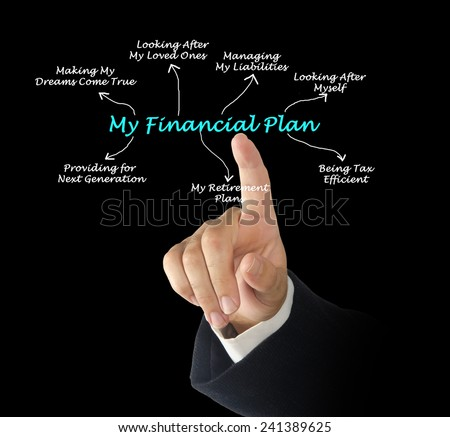 My Financial Plan  - stock photo