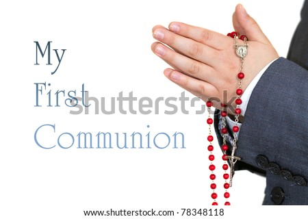 My first communion - stock photo