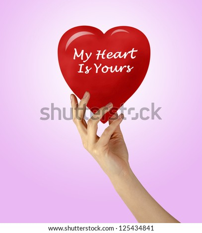 My heart is yours - stock photo