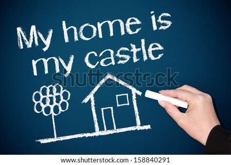 My home is my castle - stock photo