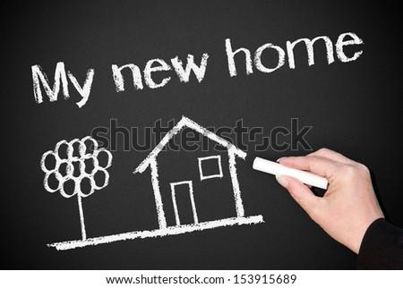 My new home ! - stock photo