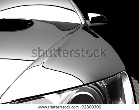 My own 3D car design - stock photo