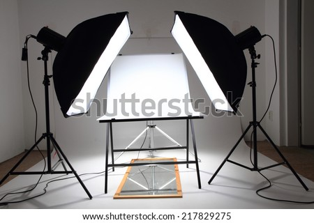 my small photo studio for products  - stock photo