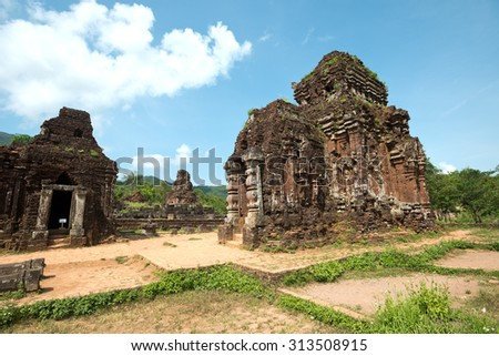 My Son Temple, near Hoi An, Vietnam - stock photo
