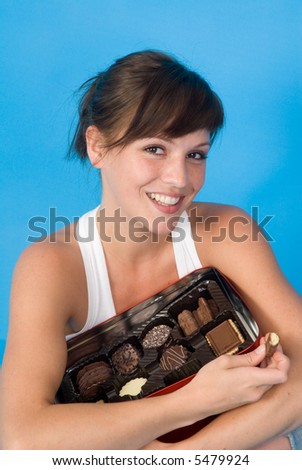 my sweets - with a nice woman - stock photo