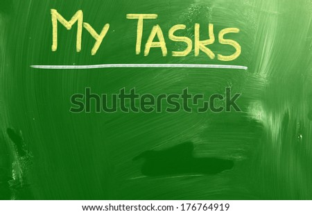 My Tasks Concept - stock photo