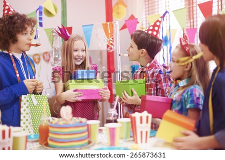 My the best friends always remember about my birthday - stock photo