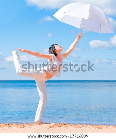my umbrella - stock photo
