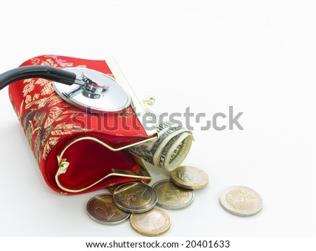 My wallet is not well - stock photo
