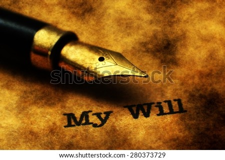 My will - stock photo