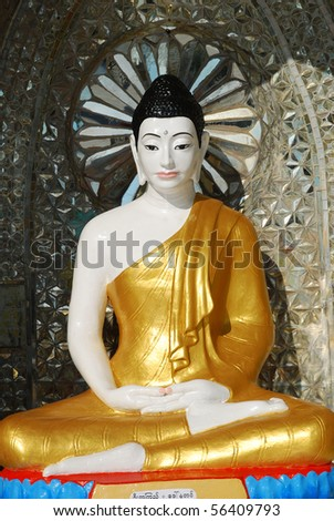 Myanmar buddha image in the seated position.