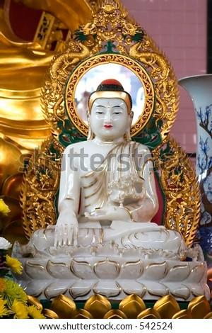 Myanmar Buddha Statue - stock photo