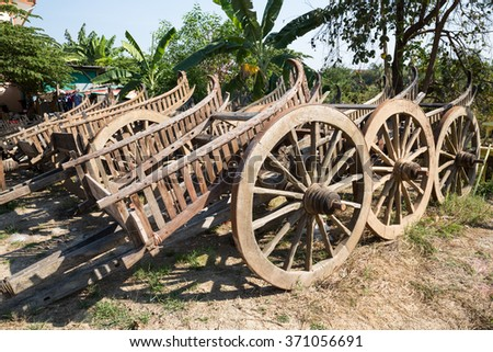 Myanmar wagon placed for sale at Mae Sot, Thailand - stock photo