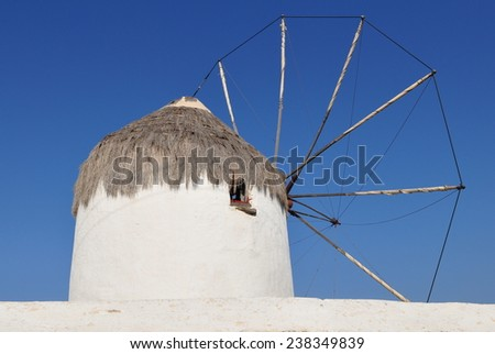 Mykonos island,Greece - stock photo