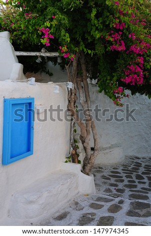 Mykonos Streets - stock photo