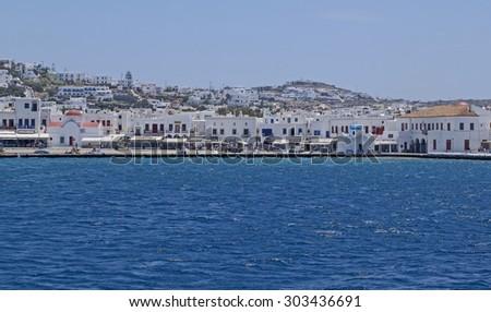 Mykonos Town or Chora - stock photo