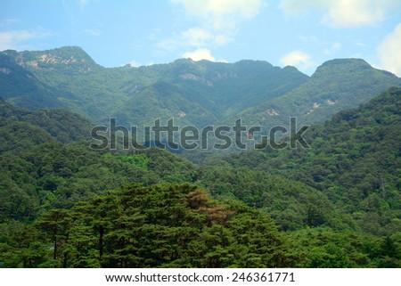 Myohyang Mountains, North-Korea - stock photo