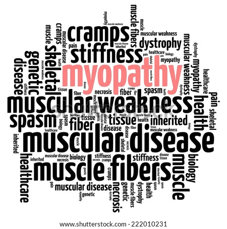 Myopathy in word collage - stock photo