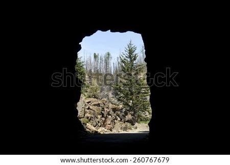Myra Canyon, British Columbia, Canada - stock photo