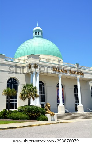 MYRTLE BEACH, SC - FEBRUARY 19, 2015 :The Palace Theatre in Myrtle Beach South Carolina is a popular year-round host to live entertainment, Broadway productions and musicals from around the world. - stock photo