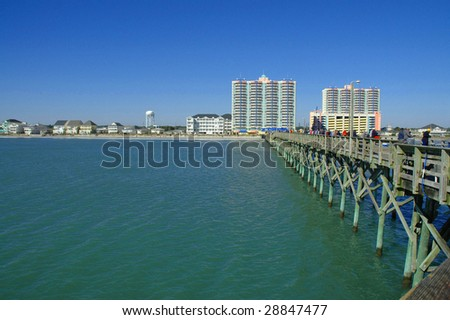 Myrtle beach south carolina stock images royalty free for Cherry grove pier fishing report