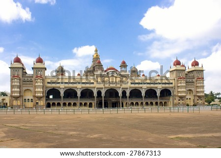 Mysore Maharajah's  Palace , Southern India - stock photo
