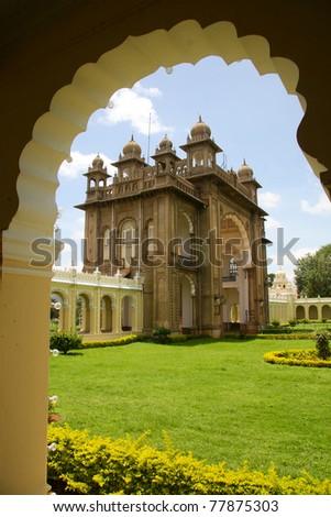 Mysore Palace in Karnataka, India. - stock photo