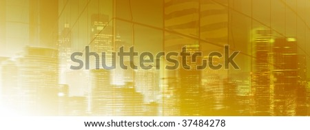 Mysterious City Light - stock photo