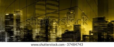 Mysterious Dark City - stock photo