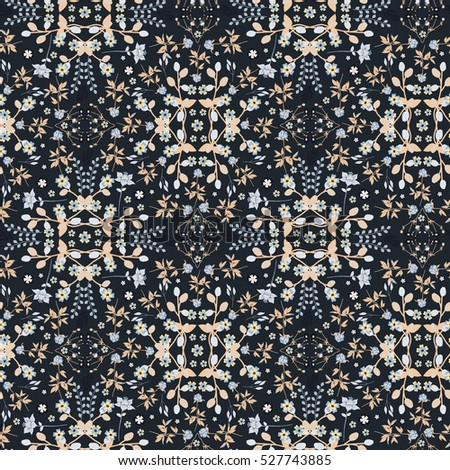 Mysterious Flowers - Dark Floral Mystery Flowers - Seamless Pattern - Repeating Pattern - Decorative Pattern