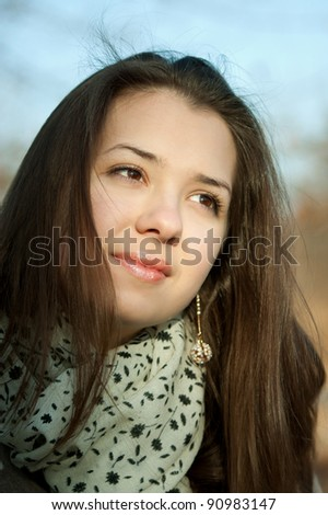 MYSTERIOUS GIRL - stock photo