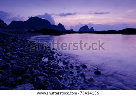 Mysterious island - stock photo