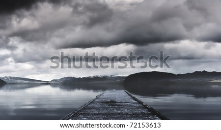 Mysterious landscape - stock photo