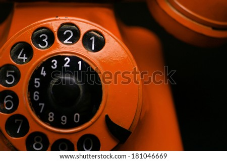 Mysterious old retro phone - stock photo