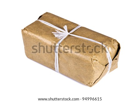 Mysterious Parcel Isolated on White
