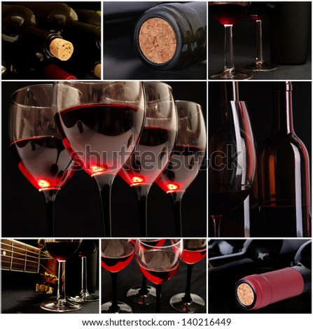 Mysterious wine - stock photo