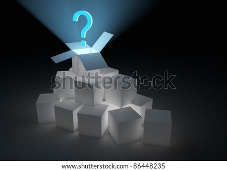 Mystery box - stock photo