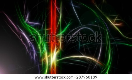 Mystery colored stripes - stock photo