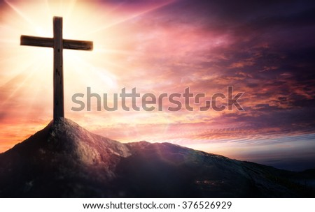 Mystery Of The Crucifix - Symbol Of Faith   - stock photo