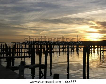 Mystic Dock - stock photo