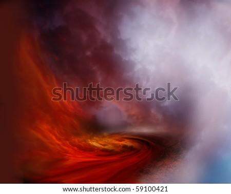 mystic fire - stock photo