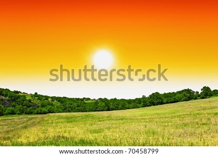 Mystic landscape - stock photo