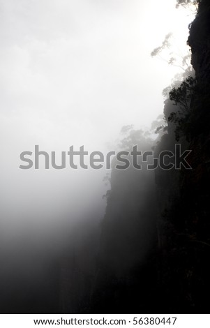 mystic mountain - stock photo
