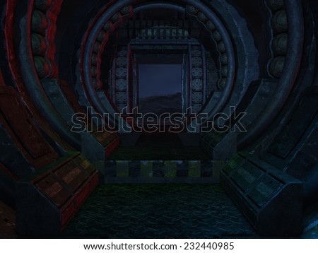 Mystic Sci-Fi Background - stock photo