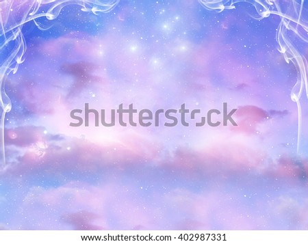 mystical background - stock photo