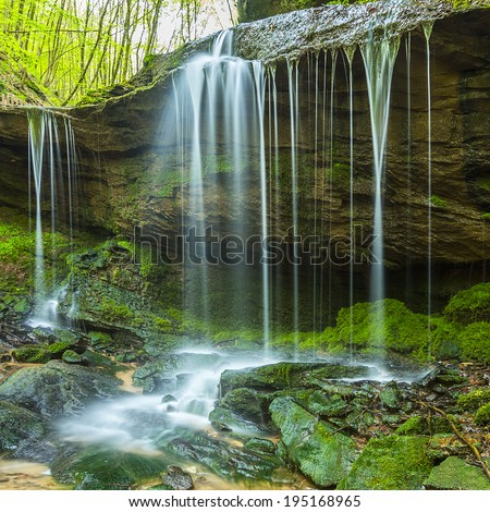 mystical cascades waterfall in the eifel national park