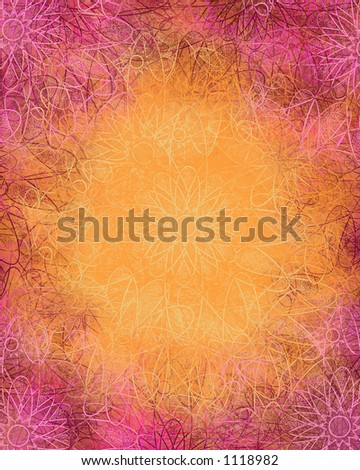 Mystical Flowers Background