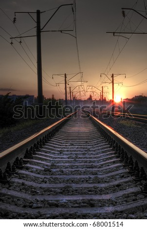Mystical railroad - stock photo
