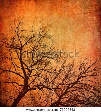 Mystical tree, dark background